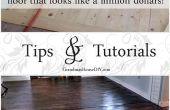 Cómo instalar un piso de madera barato