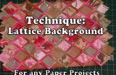 Cómo hacer un fondo enrejado para la elaboración de papel