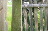 Reparación de la cerca de piquete