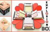 Cómo hacer una caja de explosión - DIY artes de papel - explosión de regalo de bodas