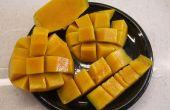 Cortar un mango - estilo hawaiano