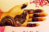 De henna Mehndi Art: Arte de tatuaje temporal