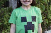 Un Minecraft Creeper t-shirt de la plantilla