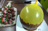 Cómo hacer un tazón de Chocolate con un globo + Chocolate cubierto de fresas