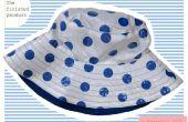 Cosido: Polka Dot lluvia sombrero (inspirado en Cath Kidston)