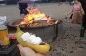 Barco de plátano de la hoguera