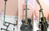Suporte para violão - cano PVC / soporte guitarra - tubos de PVC