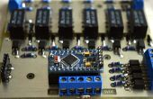 Arduino preamplificador pasivo con mando a distancia, atenuador y canal selector