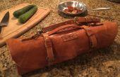 Rollo de cuchillo del Chef de cuero