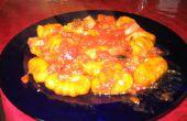Ñoquis de calabaza con salsa de tomate oliva