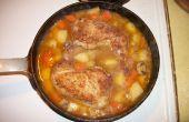 Comida de una olla de pollo a la brasa