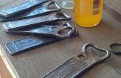 Abrelatas de botella de acero de desecho