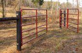 Cómo colgar una puerta/valla de la granja