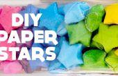 DIY Lucky Stars / estrellas de papel