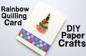 Cómo hacer tarjetas de Quilling para cumpleaños - DIY artes de papel