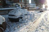 Protección del coche con bolas de nieve