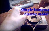 Sencillo motor eléctrico casero