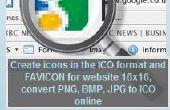 Generador icono: crear iconos en formato ICO o favicons para tu web