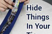 Bolsillo secreto en el Tie