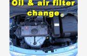 Aceite, filtro de aceite y filtro de aire cambia en un Citroen C3 2006-2008