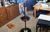 Lámpara con estantes de discos de vinilo