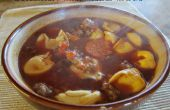 ¿Salchicha italiana y sopa de Tortellini