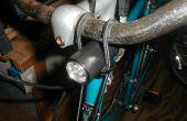 Luz de bicicleta simple y Monte