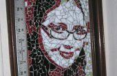 Hacer un retrato de mosaico de vidrio de color de una fotografía.