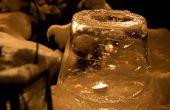 Hacer una linterna de hielo lujo usando un cubo