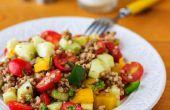 Receta de ensalada de trigo sarraceno saludable