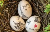 Tutorial y la idea del diseño DIY huevo de Pascua