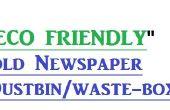 Eco amigable papel / basura de periódico