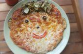 Pizza de cara feliz para todas las estaciones