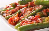 Salteado de judías verdes con tomate y ajo