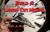 Construcción de un láser de corte modelo en un día lluvioso