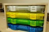 Caddie de plano 3650 serie almacenamiento caja
