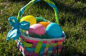 Reciclado papel canastas de Pascua