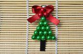 Pinza de pelo del árbol de Navidad DIY