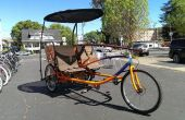 Triciclo de carga tándem sociable