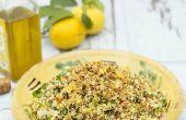 Ensalada cuatro granos de ajo, limón y hierbas - AllGoneVegetarian
