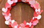 Dorado corazones San Valentín guirnalda