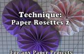 Cómo hacer papel en forma de rosetas
