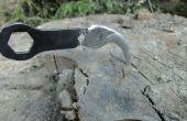 Cuchillo Karambit de una mano tijeras + herramienta bicicleta rota