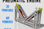 Motor neumático - impresión 3D una V2 aire motor