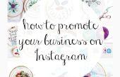 Cómo promover su negocio en Instagram