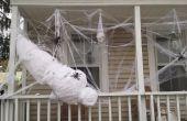 Una víctima de tamaño natural de la araña