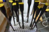 Almacenar sus archivos de aguja gratis en corrugado plástico
