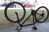 Cómo parchear un neumático delantero válvula Presta bicicleta tubo
