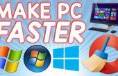 Cómo hacer su computadora más rápida en minutos