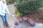 La paleta de pintura para el jardín